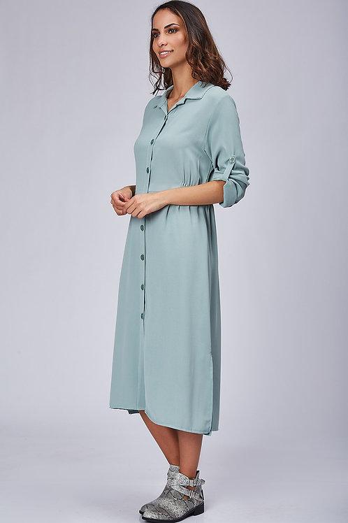 Robe unie avec taille élastique