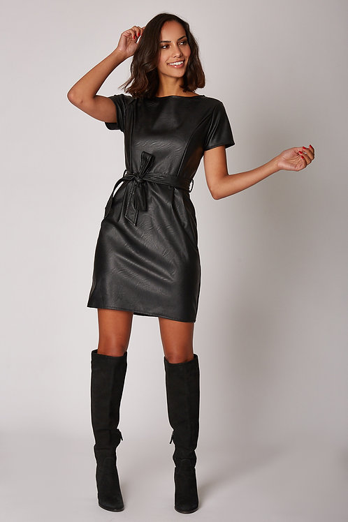 Robe imitation cuire