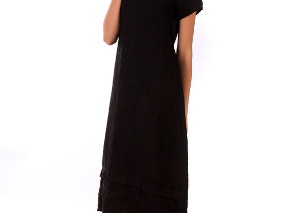 Robe Anais chic,fluide, 100 % lin de la nouvelle collection de lin passion fabriquée en Italie