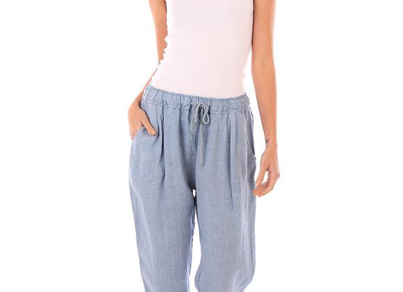 Pantalon Lucie fluide 100 % lin de la nouvelle collection de lin passion fabriquée en italie.  Lavage 30° 100 % LIN .