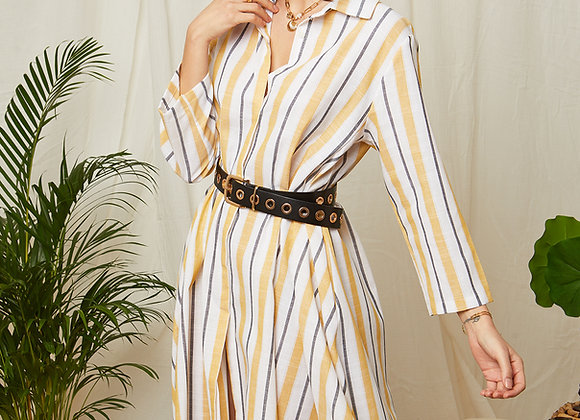 Robe chemise à rayure - 8115