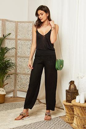 Pantalon Emma en lin taille haute 347