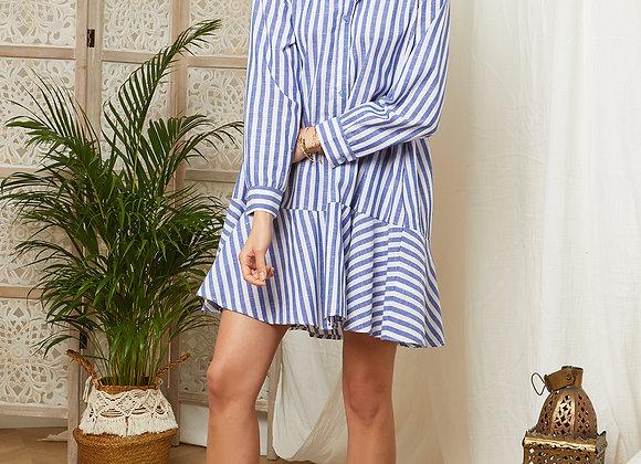 Robe chemise à rayure - 85255