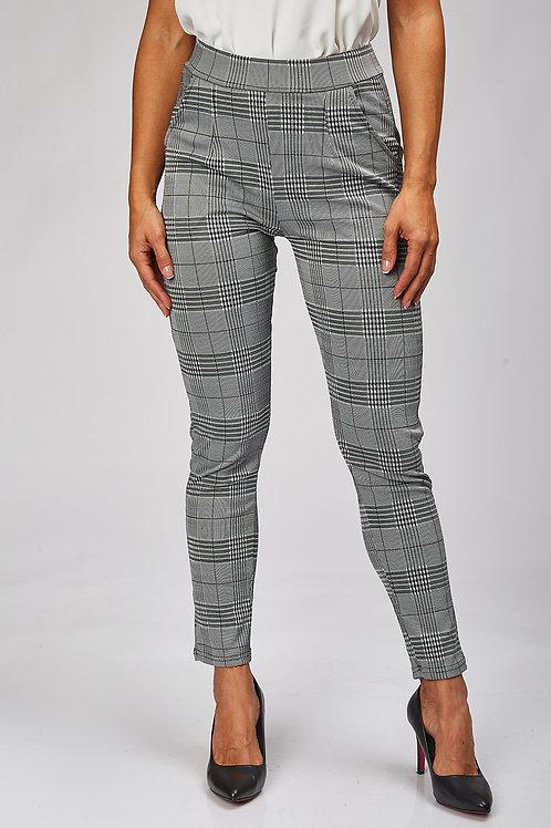 Pantalon a rayure femme taille haute