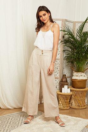 Pantalon large en lin - 99743