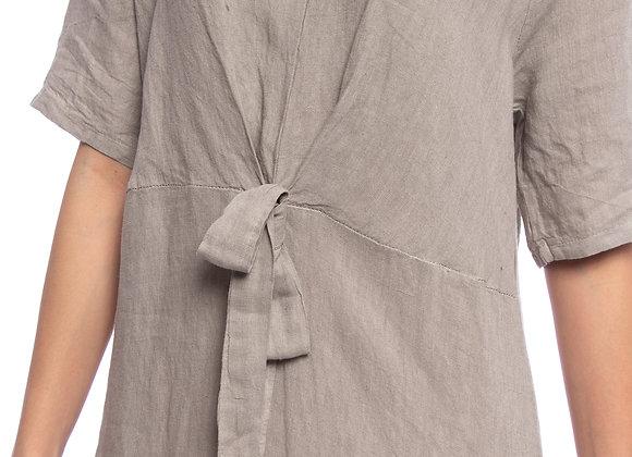 Robe lin avec nœud Greta