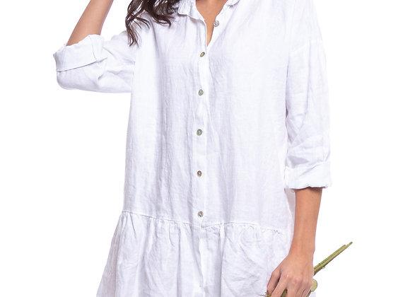 Robe courte en lin