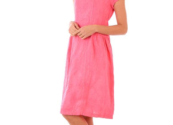 Robe Lola fluide 100 % lin de la nouvelle collection de lin passion fabriquée en italie.