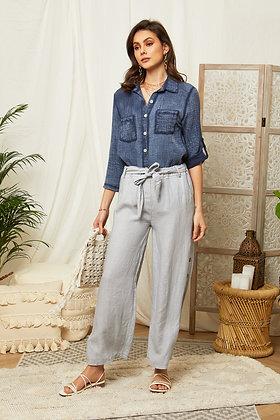 Pantalon ample en lin - 6669