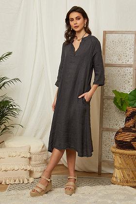 Robe longue en lin - 7161
