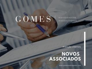 O escritório Gomes e Advogados Associados apresenta seus novos Associados