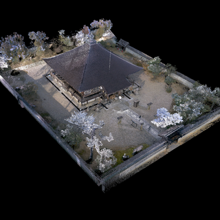 3D imaging of a historic site, Japan. Cartography of historic earth walls.