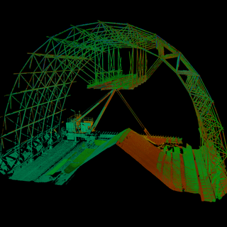 Raw material shed assessment, Zambia. Routine check on a key structure. 3D Thermal and Laser Scan.
