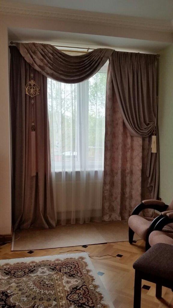 Шторы в гостиной 4