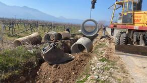 Αντικατάσταση τσιμεντοσωλήνων στο σύνορο Βροντούς - Αγίου Σπυρίδωνα