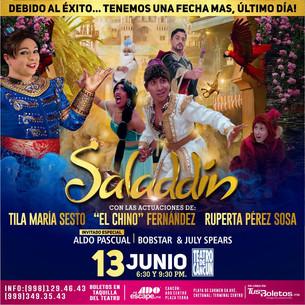 """Regresa a Cancún """"Saladdin"""""""