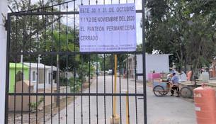 Panteones permanecerán cerrados en Día de Muertos por cuestiones de la pandemia