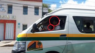Irresponsables choferes del transporte no entienden; siguen prestando el servicio sin cubre-boca