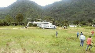 Se desploma helicóptero de la Fuerza Aérea que transportaba víveres a damnificados de Chiapas
