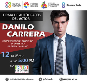 Llega a Cancún el galán de televisión Danilo Carrera