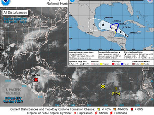 Alerta Verde para la costa de Quintana Roo por depresión tropical número siete
