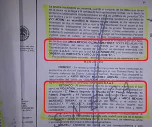 Libera magistrada a Amos Benoni de violación; fiscal Guadalupe Reyes le fabricó el delito y lo sente