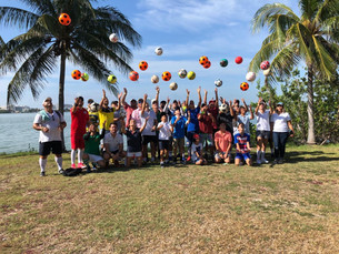Arranca con éxito liga de Footgolf en Cancún