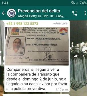Buscan a mujer de la Policía Municipal; lleva tres días desaparecida
