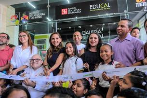 """Nueva librería """"Popol Vuh"""" en el Centro Cultural de las Artes; la inaugura Mara Lezama"""