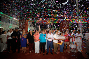 "Exitosa respuesta de solidarenses en ""la Feria del Carmen 2019""; se luce Margarita la ""Diosa de la C"