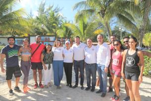 Inaugura Mara Lezama primer Ecogym; se encuentra en playa Las Perlas de Zona Hotelera