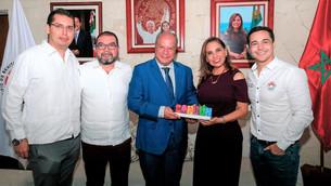 Recibe Mara Lezama a embajador del Reino de Marruecos