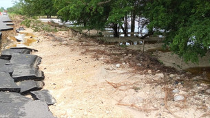 Se fractura carretera Nicolas Bravo-Xpujil por intensa lluvia; no hay acceso