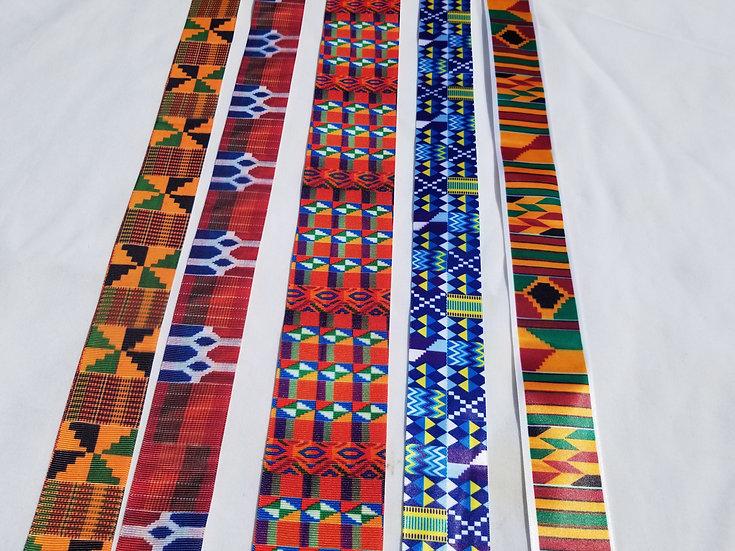Custom African Print Grosgrain Ribbon