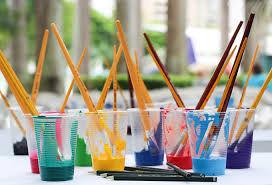 vasitos de pintura