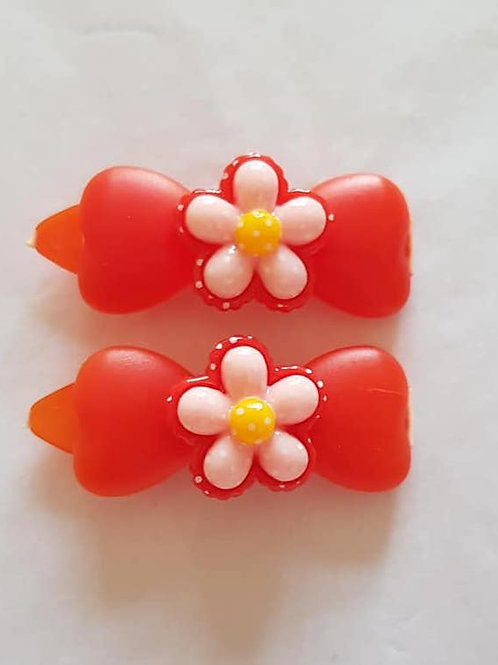 4.5 cm Clips with Flowers