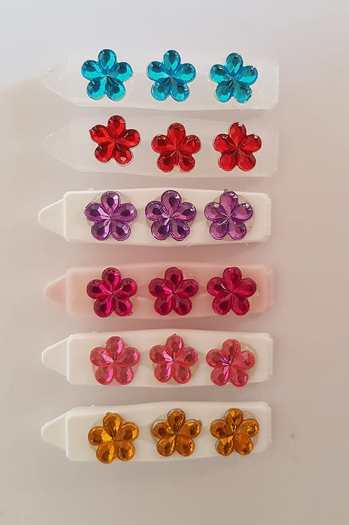 4.5 cm Straight Clips with Sparkle Daisies