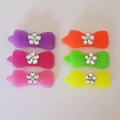 3.5 cm Small Jelly Bows with Sparkles