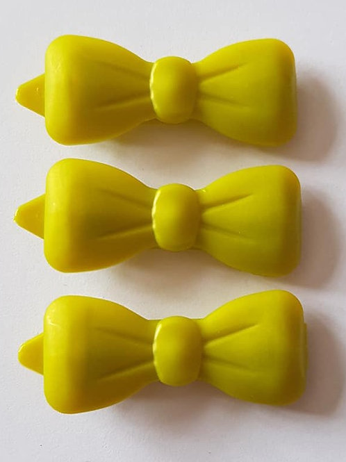 4.5 cm Large Plain Bow Hair Clips
