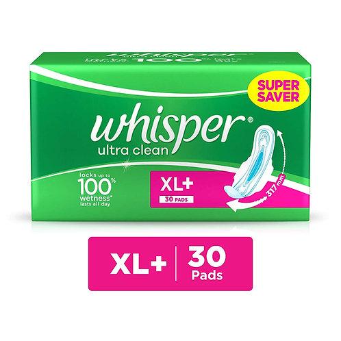 WHISPER ULTRA CLEAN XL 30PADS