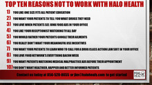 Top 10 Reasons to Not Work with Halo Health