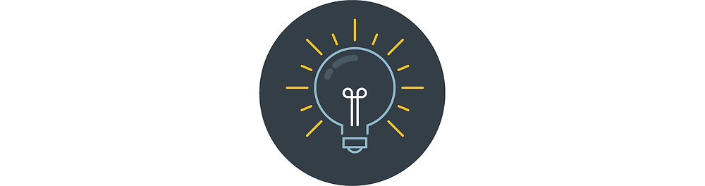 A blue lightbulb with yellow light.