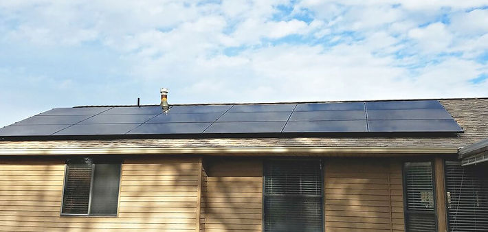 Solar panels installed on a house by Empire Solar Group
