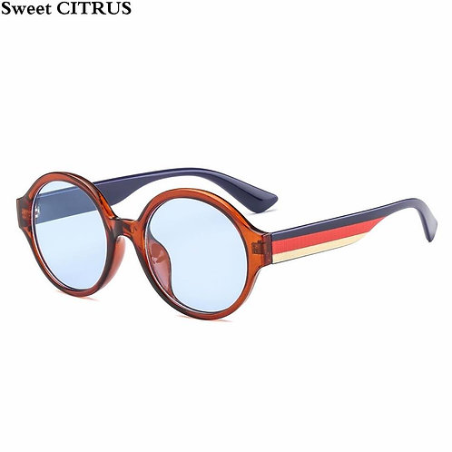Sweet Citrus Brown Unisex Sunglasses