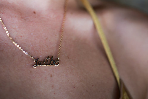 Just Be Necklace in Gold