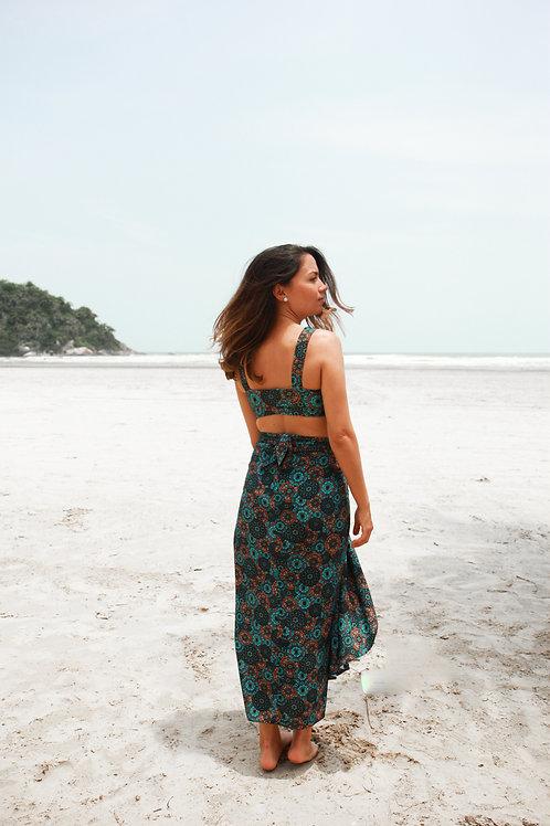 Turquoise Mandala Pareo Skirt