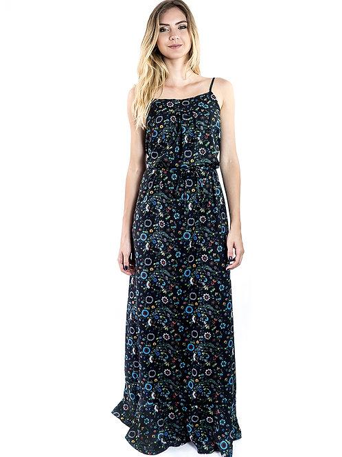 Dark Pineapple Maxi Dress