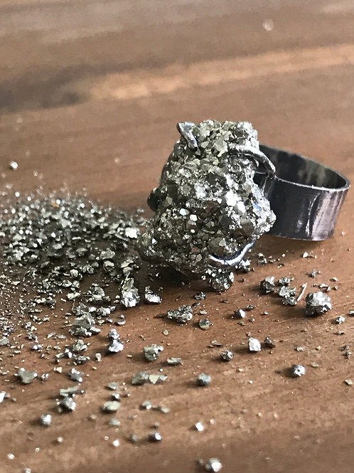 Pyrite Rustic Ring