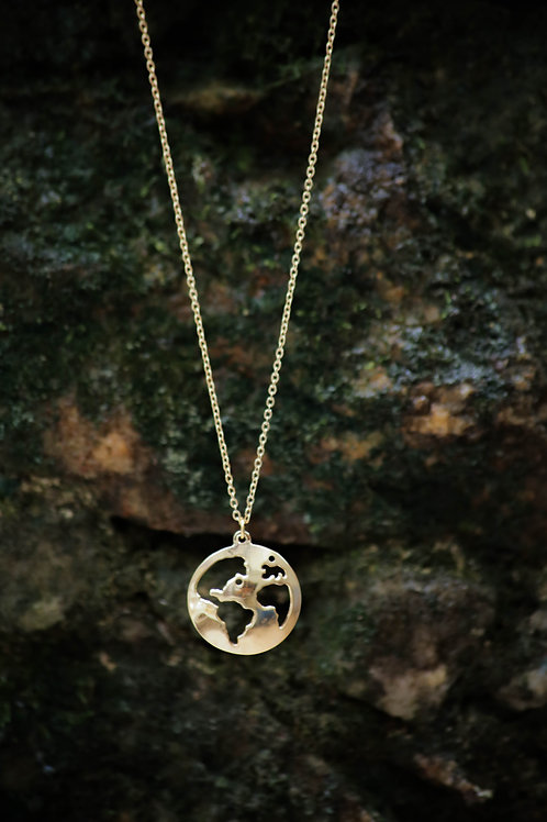 World Necklace in Gold