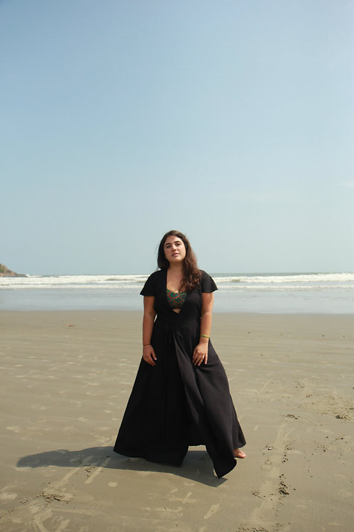 Black Transpasse Maxi Dress